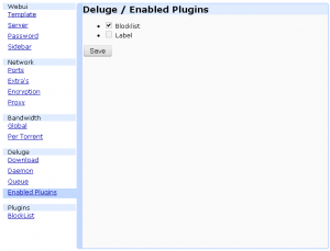 Deluge \ Enabled Plugins