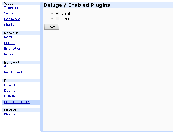 Configuration Deluge (partie 2) | Void And Any