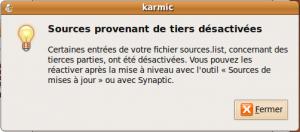 Karmic- sources tiers desactivés